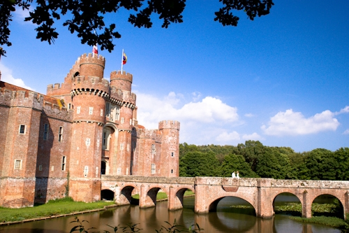 Herstmonceux Castle wedding photography east sussex