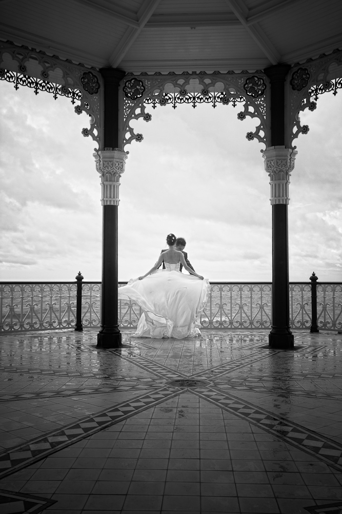 Brighton Wedding Photographer at the Bandstand on Brighton Beach